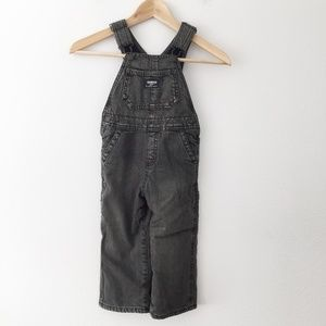 Oshkosh B'Gosh Faded Black Lined Vestbak Overalls